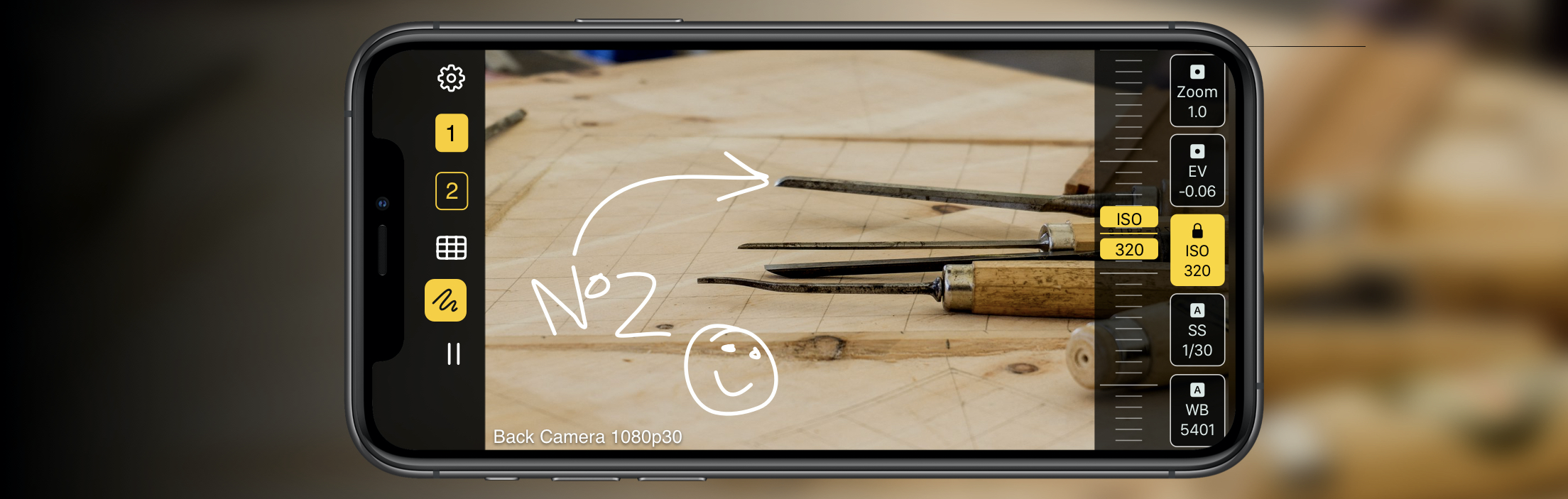 Draw over footage with Shoot's virtual whiteboard